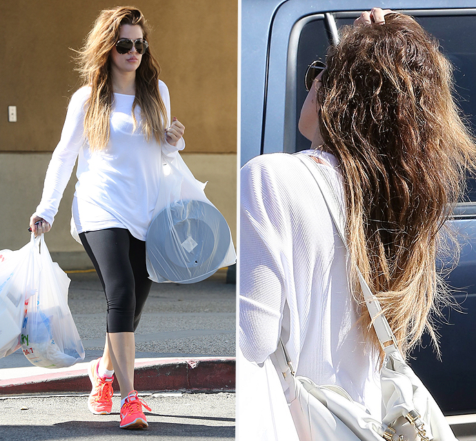 Khloe kardashian hair extension magazine this is what real kardashian hair looks like pmusecretfo Choice Image