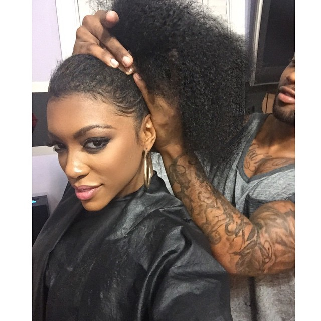 Porsha williams shows off her real hair hair extension magazine and hours later she was back to this pmusecretfo Gallery