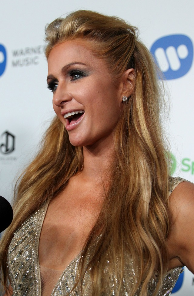 Paris hilton hair extension magazine paris hilton 2015 grammy awards hair makeup pmusecretfo Gallery